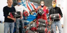 Fußballfans sammelten Schlafsäcke für Obdachlose