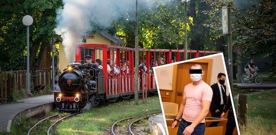 Der Dieb (r.) hinterließ auch Spuren an Liliputbahn-Hütte.