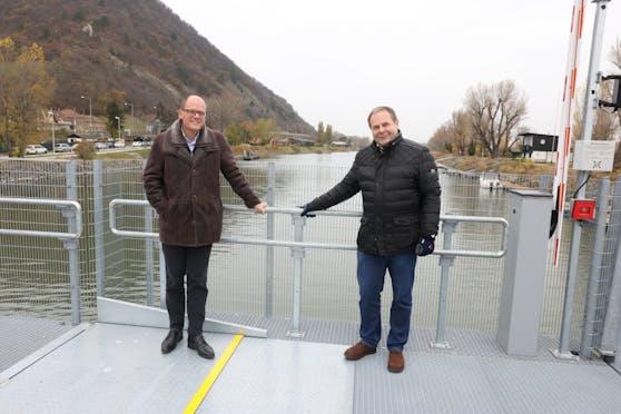 Baustellen-Koordinator Peter Lenz (l.) undHermann Papouschek, Leiter der Abteilung Brückenbau und Grundbau der Stadt Wien