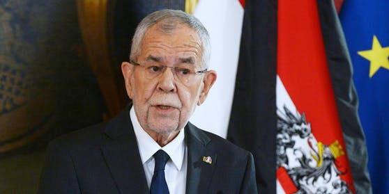Bundespräsident Van der Bellen am 3. November 2020 im Rahmen einer Ansprache in Folge des Terroranschlags in der Wiener Innenstadt.