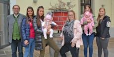 Storch baut Nest auf Gasthaus, 5 Kellnerinnen schwanger