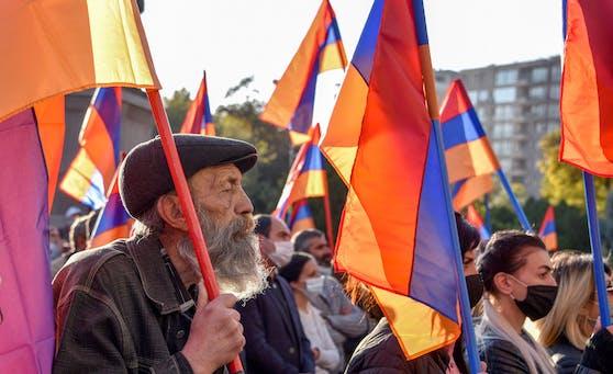 Massenproteste in Armenien