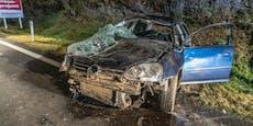 Wagen überschlägt sich, Fahrer spurlos verschwunden