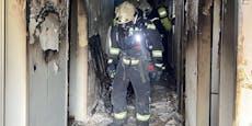 Zimmerbrand forderte vier Verletzte und toten Hund
