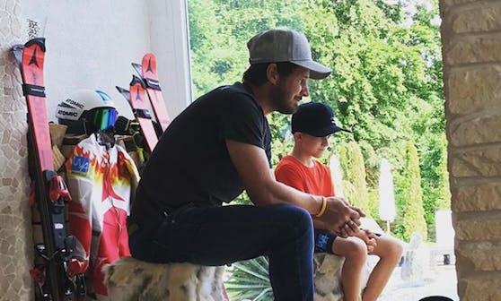 Roland Stocker mit seinem Sohn Luca.