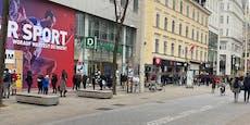 Riesen-Ansturm auf Wiener Schuhgeschäfte vor Lockdown