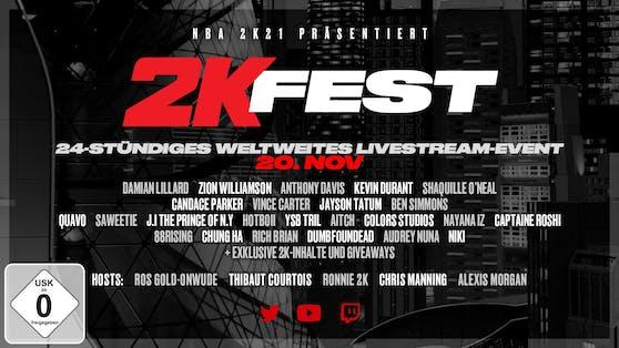 2K feiert die Basketball-Kultur und 21 Jahre 2K mit dem weltweiten 2KFest.