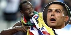 """Supersprinter Bolt: """"Ronaldo ist schneller als ich"""""""