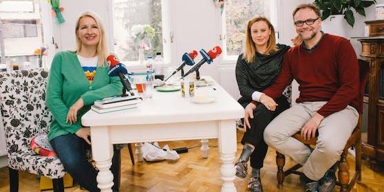 Erschlankt dank Intervallfasten: Katharina Straßer und Thomas Stipsits bei Claudia Stöckl.