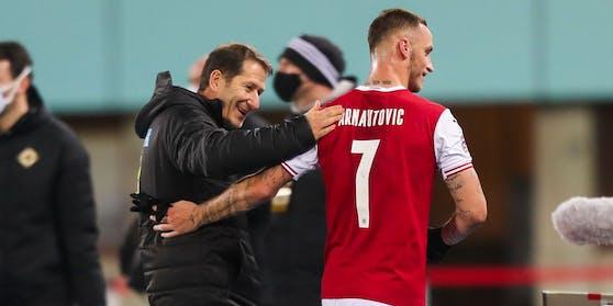 Marko Arnautovic mit Franco Foda