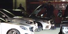 Polizei-Razzia gegen Hochzeitskorso mit Luxus-Autos