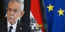 """""""Verfassungswidrig!"""" VdB rügt Budget-Panne"""
