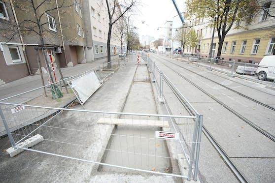 "Am Tabor wird Wiens erste ""Protected Bike Lane"" errichtet."