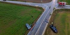 """Zwei Verletzte bei schwerem Crash auf """"Todeskreuzung"""""""