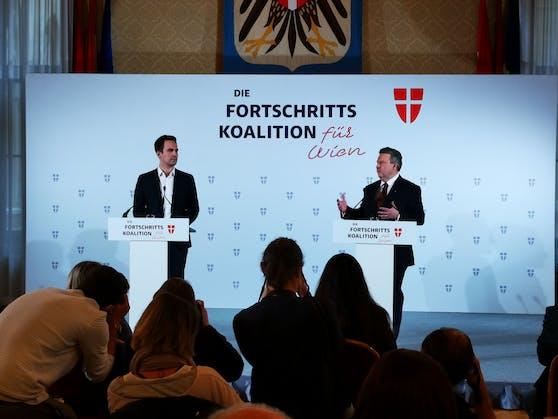 Christoph Wiederkehr (NEOS) und Michael Ludwig (SPÖ)