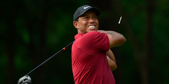 Tiger Woods brauchte zehn Schläge für ein Par-3-Loch beim Masters.