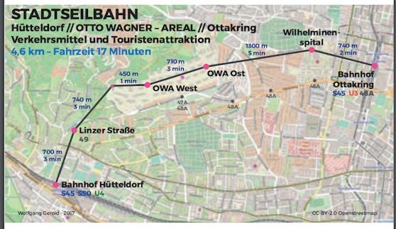 Die Neos legten bereits 2017 Pläne für eine Seilbahn in Wien vor.