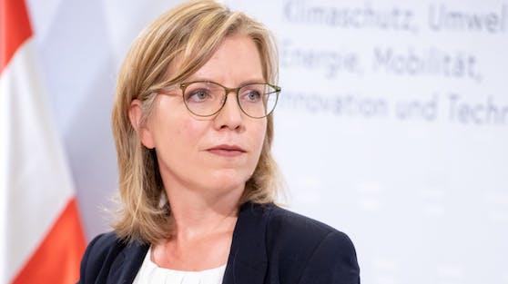 Verkehrsministerin Leonore Gewessler (Grüne) bei einer Pressekonferenz am 31. Juli 2020
