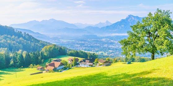 Blick vom Gaisberg auf die Stadt Salzburg