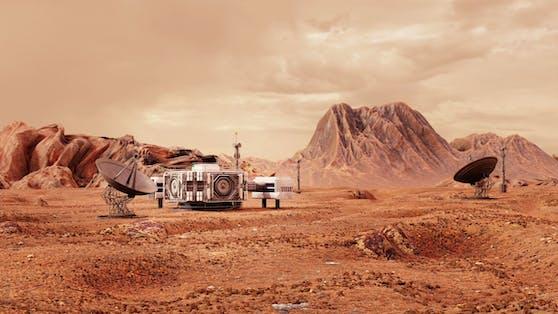 Das erste Bauwerk, das am Mars in Planung steht, ist ein Kernkraftwerk.