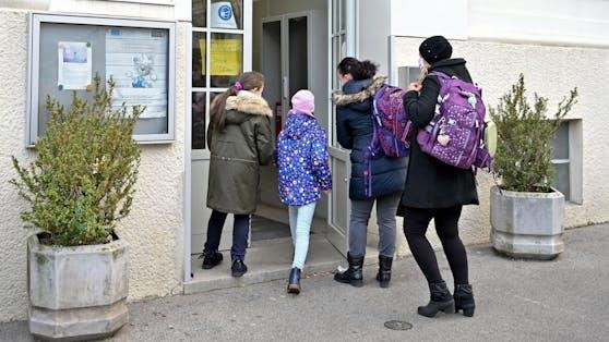 Viele Kinder waren am ersten Lockdown-Tag in der Schule.
