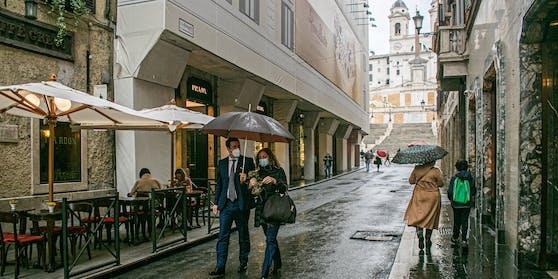 Roms Altstadt fast menschenleer.