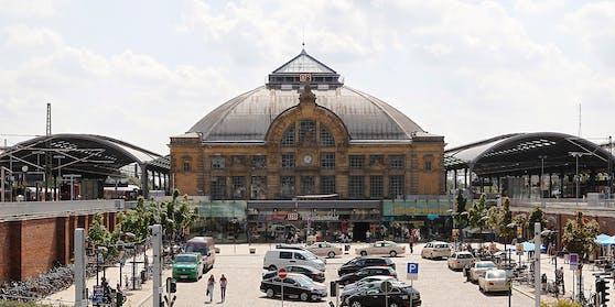 Der Hauptbahnhof von Halle