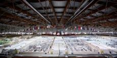 Eishalle in Russland als Corona-Lazarett
