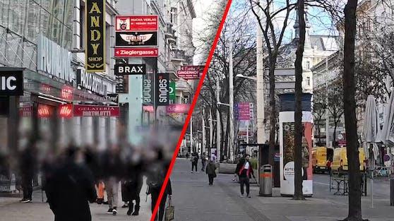 Wien vor und nach dem Lockdown