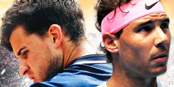 Zwei Meister ihres Faches: Dominic Thiem (l.) und Rafael Nadal