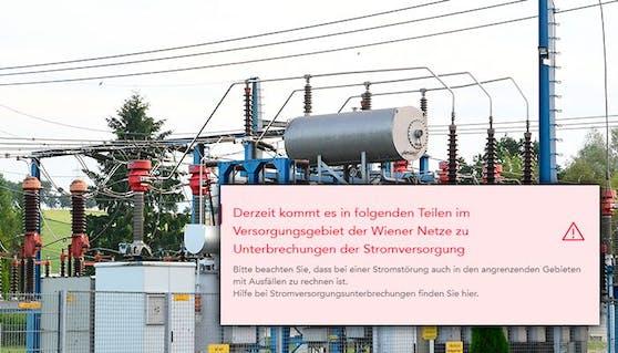 Stromausfall im 14. und 16. Wiener Gemeindebezirk