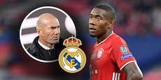 Real-Coach Zidane steht in Kontakt mit ÖFB-Star Alaba