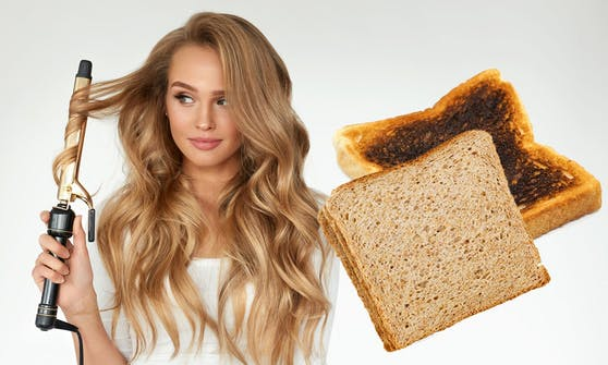 Hitzeschutz wirkt tatsächlich - was der verblüffende Toast-Test von Haarstylistin Bethany Honey beweist