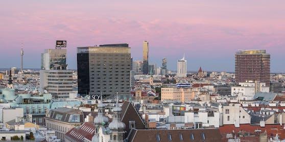 Die Wiener Skyline mit einigen Geschäftstürmen