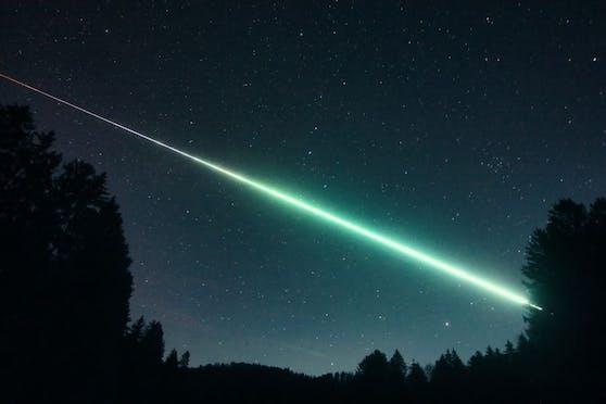 Hermann Koberger konnte den Meteor mit seiner Kamera festhalten.