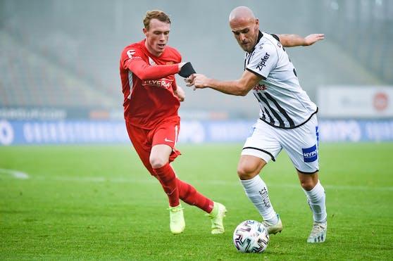 Der LASK muss länger auf den verletzten Lukas Grgic (re.) verzichten.