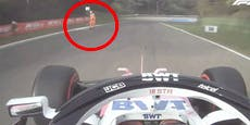 Formel-1-Pilot fährt beinahe Streckenposten um