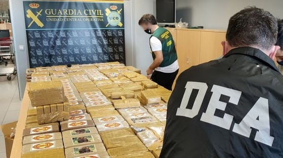 560 Kilo Kokain wurden beschlagnahmt.