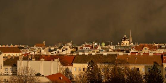 Wien an einem Regentag im Spätherbst. Symbolfoto