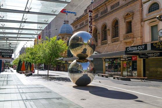 Leere Straßen in Adelaide