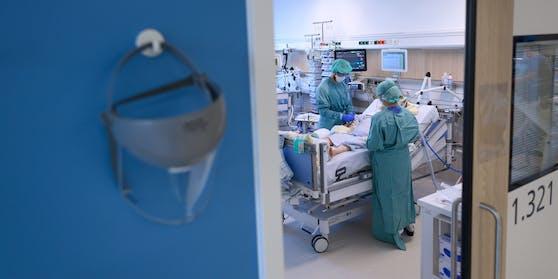 Blick in ein Intensiv-Zimmer im Spital