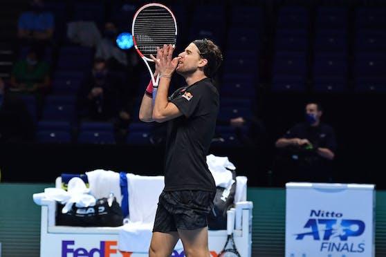 Dominic Thiem steht zum zweiten Mal in Folge im Finale der ATP Finals.
