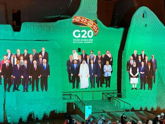 Das Familien-Foto der G20-Teilnehmer – wegen der Pandemie findet der Gipfel virtuell statt.