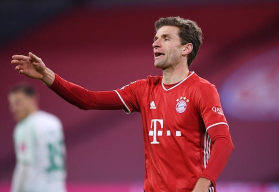 Thomas Müller poltert nach dem Remis gegen Bremen.