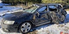 Schnee-Unfall: 18-Jähriger überschlägt sich mit Audi