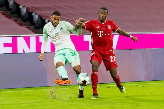 David Alaba gegen Werder Bremen.
