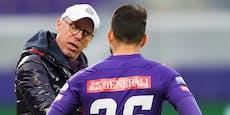 """Stöger kritisiert Spieler: """"Keine gemeinsame Arbeit"""""""