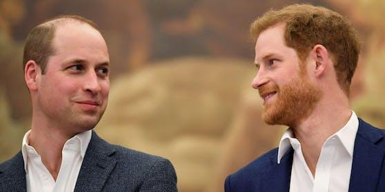 """Die beiden """"Sexiest Royals"""": Prinz William und sein jüngerer Bruder Harry"""