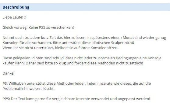 Ein User warnt vor Wucher-Preisen.