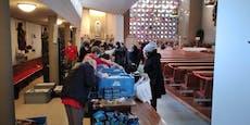 Corona-Armut sorgt für Riesen-Schlangen bei Caritas